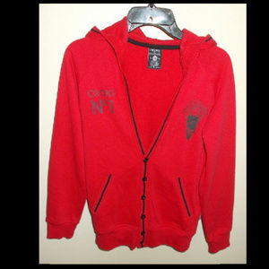 Women's Crooks & Castles Cardigan Hooded Sweater